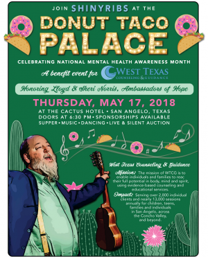 Shinyribs Donut Taco Palace Ticket